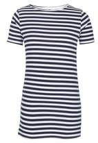 Rebel Republic - Stripe T-shirt Dress Multi-colour