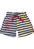 Eco Punk - Stripe Fleece Shorts Multi-colour