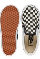 Vans - Checker Slip On Black and White
