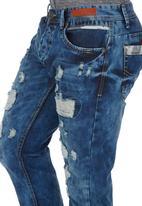 Cutty - Rip & Repair Denim Blue black denim