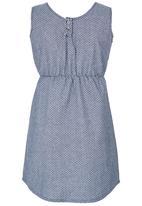 Rebel Republic - Lace trim dress Mid Blue