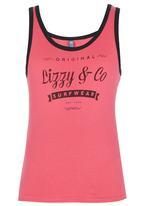 Lizzy - Girls Vest Dark Pink