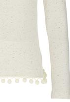 Rebel Republic - Tassle Trim Sweater Off White