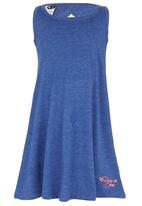 Roxy - Paneled A-line Dress Mid Blue