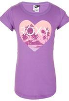 Roxy - Heart Print T-shirt Mid Purple