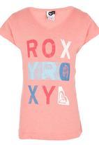 Roxy - V-neck T-shirt Mid Pink