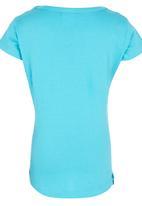 Roxy - Heart Print T-shirt Mid Blue