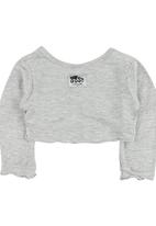Just chillin - Cropped Cardigan Grey