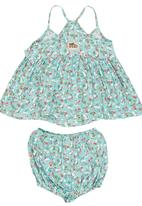 Just chillin - Floral Set Turquoise