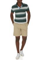 POLO - Graded Stripe Golfer Green