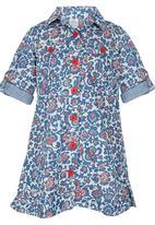 Just chillin - Floral Shirts Dress Multi-colour