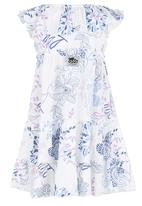 Just chillin - Butterfly Print Dress Multi-colour