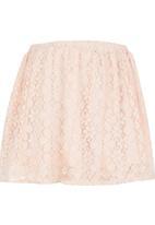 Rebel Republic - Lace Skirt Pale Pink