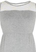 Rebel Republic - Lace inset dress Grey