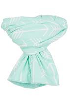 Mina Moo - Reversible Plush Blanket Light Green