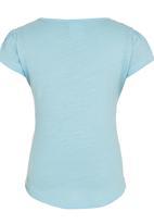 Roxy - Printed Tshirt Pale Blue