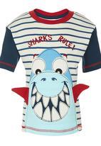 Hooligans - Shark Boys T Shirt Multi-colour