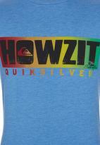 Quiksilver - Printed Tshirt Pale Blue