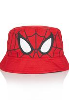 Character Fashion - Spiderman Bucket Hat Red