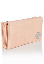 Billabong  - Floral Embossed Wallet Beige
