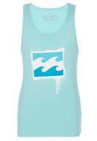 Billabong  - Printed Vest Mid Blue