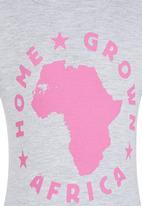 Home Grown Africa - Africa Tshirt Grey