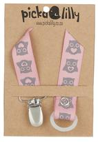 Pickalilly - Owl Dummy Chain Pale Pink