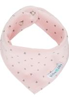 Pickalilly - Triangle Print Bandana Bib Pale Pink