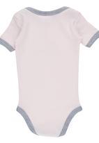 Home Grown Africa - Felt Bunny Applique Babygrow Pale Pink