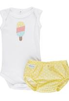 Pickalilly - Ice-Cream Diaper Cover Set Yellow