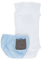 Pickalilly - Owl Diaper Cover Set Pale Blue