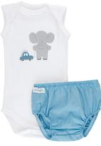Pickalilly - Elephant Diaper Cover Set Pale Blue