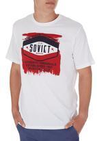 SOVIET - Short Sleeve Printed Tee White White