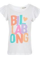 Billabong  - Frill Sleeve Top White