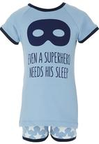 Home Grown Africa - Superhero Pyjamas Mid Blue
