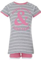 Home Grown Africa - Glitter Print Pyjamas Mid Pink