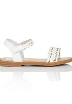 Rock & Co. - Ankle Strap Sandal White