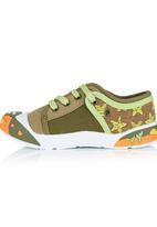 Bubblegummers - Rubber Toe Sneaker Khaki Green