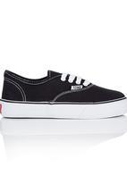 TOMY - Wedge Sole Sneaker Black