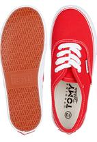TOMY - Wedge Sole Sneaker Red
