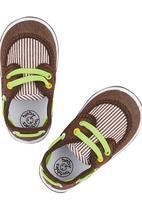 Baby Bubbles - Slip-In Stripe Sneaker Dark Brown