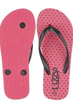 Lizzy - Pink Spotted Flip Flop Mid Pink