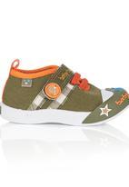 Baby Bubbles - Velcro Sneaker Khaki Green