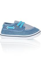 Baby Bubbles - Slip-In Stripe Sneaker Dark Blue