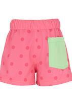 Lizzy - Girls Polka Dot Shorts Dark Pink