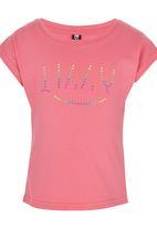 Lizzy - Pink printed tee Mid Pink