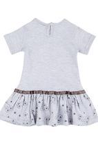 Luke & Lola - Bunny Embroidery Print Dress Grey