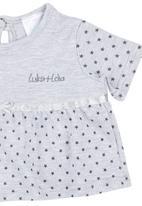 Luke & Lola - Star Print Top Grey