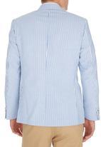 C Squared - Seersucker jacket Mid Blue