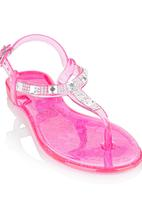 Rock & Co. - Jelly Sandal with studs Mid Pink